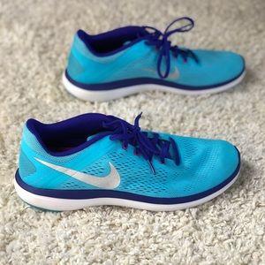 Nike Shoes - Nike Flex 2016 Run Blue Purple Mesh Running Shoes